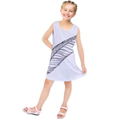 Feather Line Art Kids  Tunic Dress