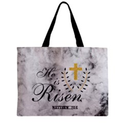 He Is Risen Marble Zipper Mini Tote Bag