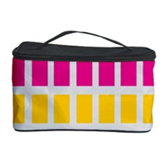 Squares Pattern Background Colorful Squares Wallpaper Cosmetic Storage Case by Simbadda