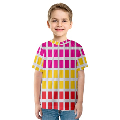 Squares Pattern Background Colorful Squares Wallpaper Kids  Sport Mesh Tee by Simbadda