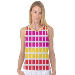 Squares Pattern Background Colorful Squares Wallpaper Women s Basketball Tank Top