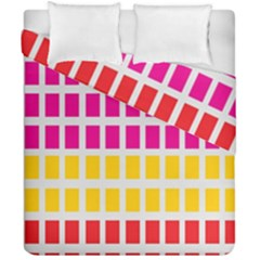 Squares Pattern Background Colorful Squares Wallpaper Duvet Cover Double Side (california King Size) by Simbadda