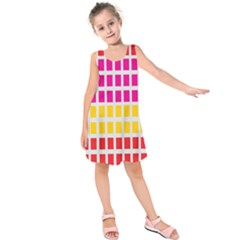 Squares Pattern Background Colorful Squares Wallpaper Kids  Sleeveless Dress by Simbadda