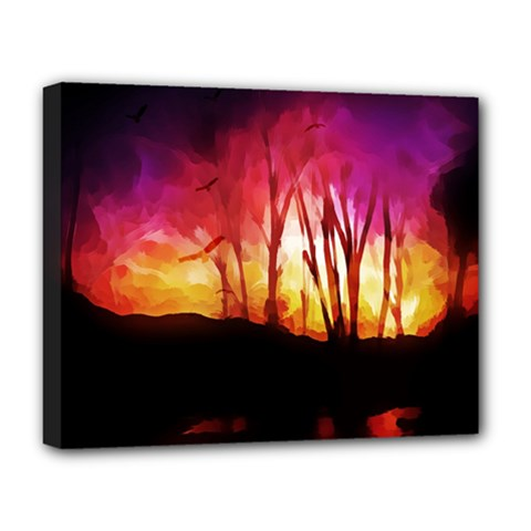 Fall Forest Background Deluxe Canvas 20  X 16   by Simbadda