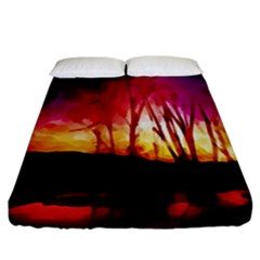 Fall Forest Background Fitted Sheet (california King Size) by Simbadda