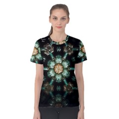 Kaleidoscope With Bits Of Colorful Translucent Glass In A Cylinder Filled With Mirrors Women s Cotton Tee