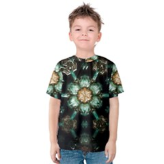 Kaleidoscope With Bits Of Colorful Translucent Glass In A Cylinder Filled With Mirrors Kids  Cotton Tee