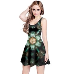 Kaleidoscope With Bits Of Colorful Translucent Glass In A Cylinder Filled With Mirrors Reversible Sleeveless Dress