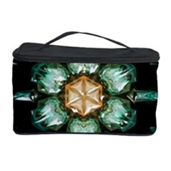 Kaleidoscope With Bits Of Colorful Translucent Glass In A Cylinder Filled With Mirrors Cosmetic Storage Case by Simbadda