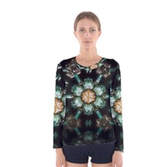 Kaleidoscope With Bits Of Colorful Translucent Glass In A Cylinder Filled With Mirrors Women s Long Sleeve Tee