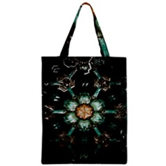 Kaleidoscope With Bits Of Colorful Translucent Glass In A Cylinder Filled With Mirrors Zipper Classic Tote Bag