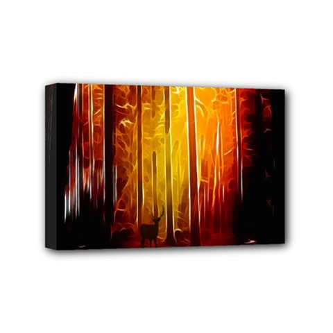 Artistic Effect Fractal Forest Background Mini Canvas 6  X 4  by Simbadda