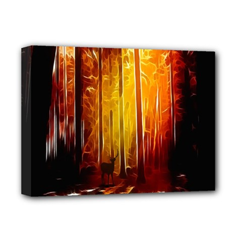 Artistic Effect Fractal Forest Background Deluxe Canvas 16  X 12