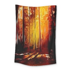 Artistic Effect Fractal Forest Background Small Tapestry