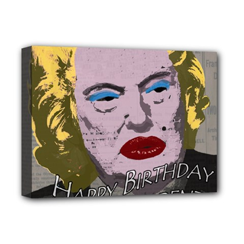 Happy Birthday Mr  President  Deluxe Canvas 16  X 12   by Valentinaart