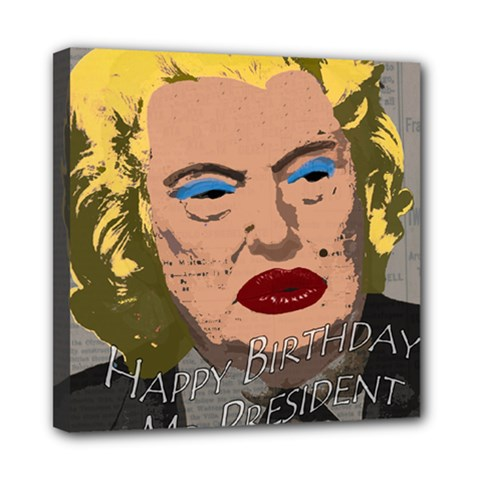 Happy Birthday Mr  President  Mini Canvas 8  X 8  by Valentinaart
