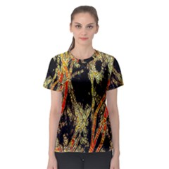Artistic Effect Fractal Forest Background Women s Sport Mesh Tee by Simbadda