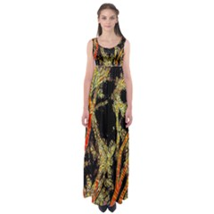 Artistic Effect Fractal Forest Background Empire Waist Maxi Dress by Simbadda