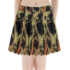 Artistic Effect Fractal Forest Background Pleated Mini Skirt by Simbadda