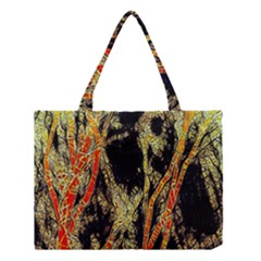 Artistic Effect Fractal Forest Background Medium Tote Bag by Simbadda