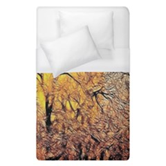 Summer Sun Set Fractal Forest Background Duvet Cover (single Size) by Simbadda