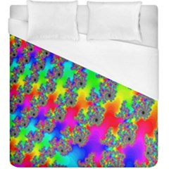 Digital Rainbow Fractal Duvet Cover (king Size) by Simbadda
