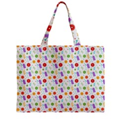 Decorative Spring Flower Pattern Mini Tote Bag