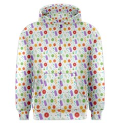 Decorative Spring Flower Pattern Men s Zipper Hoodie by TastefulDesigns