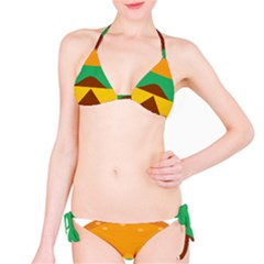 Hamburger Bread Food Cheese Bikini Set by Simbadda
