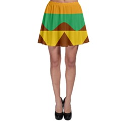 Hamburger Bread Food Cheese Skater Skirt
