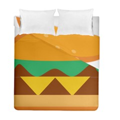 Hamburger Bread Food Cheese Duvet Cover Double Side (full/ Double Size) by Simbadda