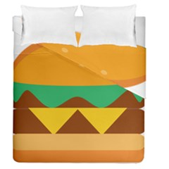 Hamburger Bread Food Cheese Duvet Cover Double Side (queen Size) by Simbadda