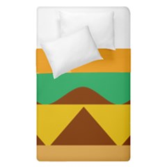 Hamburger Bread Food Cheese Duvet Cover Double Side (single Size) by Simbadda
