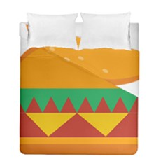 Burger Bread Food Cheese Vegetable Duvet Cover Double Side (full/ Double Size) by Simbadda