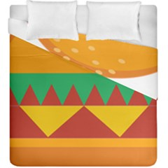 Burger Bread Food Cheese Vegetable Duvet Cover Double Side (king Size) by Simbadda