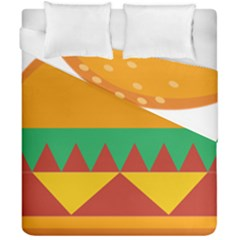 Burger Bread Food Cheese Vegetable Duvet Cover Double Side (california King Size) by Simbadda