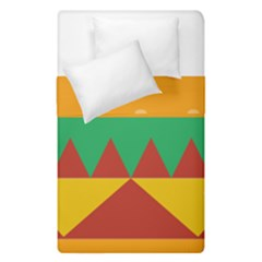 Burger Bread Food Cheese Vegetable Duvet Cover Double Side (single Size) by Simbadda