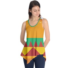 Burger Bread Food Cheese Vegetable Sleeveless Tunic
