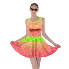 Colorful Abstract Triangles Pattern  Skater Dress by TastefulDesigns