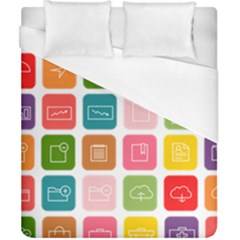 Icons Vector Duvet Cover (california King Size) by Simbadda