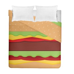 Vector Burger Time Background Duvet Cover Double Side (full/ Double Size) by Simbadda