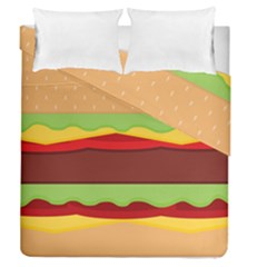 Vector Burger Time Background Duvet Cover Double Side (queen Size) by Simbadda