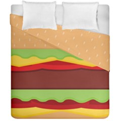 Vector Burger Time Background Duvet Cover Double Side (california King Size) by Simbadda