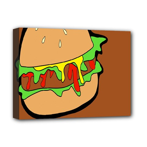 Burger Double Deluxe Canvas 16  X 12