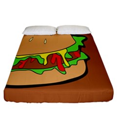 Burger Double Fitted Sheet (california King Size) by Simbadda