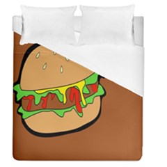Burger Double Duvet Cover (queen Size) by Simbadda
