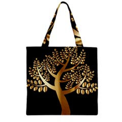 Abstract Art Floral Forest Zipper Grocery Tote Bag by Simbadda