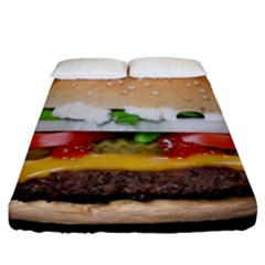 Abstract Barbeque Bbq Beauty Beef Fitted Sheet (california King Size) by Simbadda