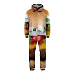 Abstract Barbeque Bbq Beauty Beef Hooded Jumpsuit (kids)