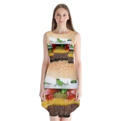 Abstract Barbeque Bbq Beauty Beef Sleeveless Chiffon Dress